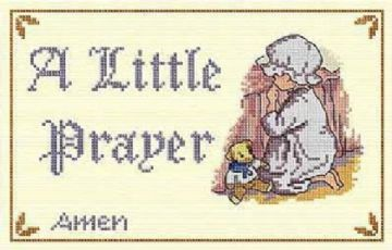 All Our Yesterdays - A LITTLE PRAYER Cross Stitch Kit